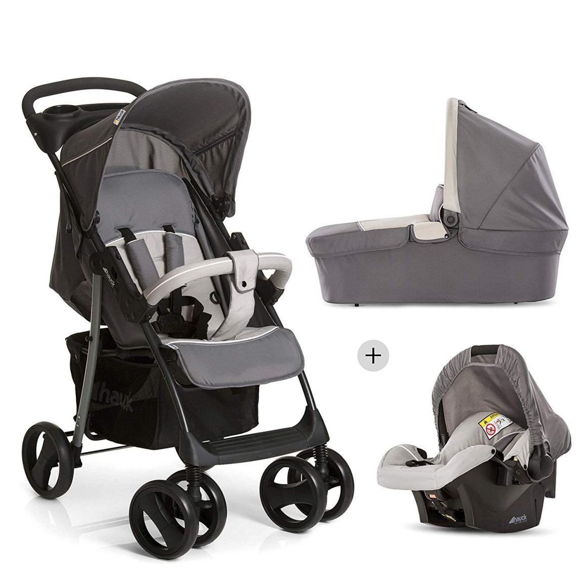 La meilleure poussette haut de gamme pour les mamans et papas de petite taille : Hauck - Shopper SLX Trio Set