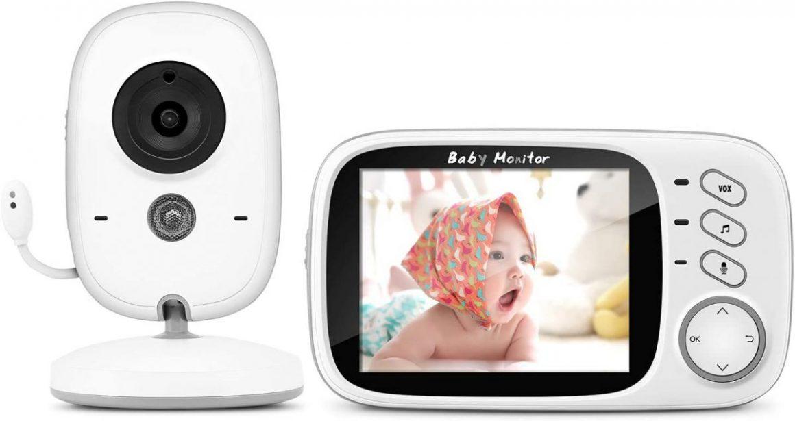 """Moniteur Bébé BOIFUN Babyphone Vidéo Caméra Surveillance Numérique Sans Fil avec 3.2""""LCD"""